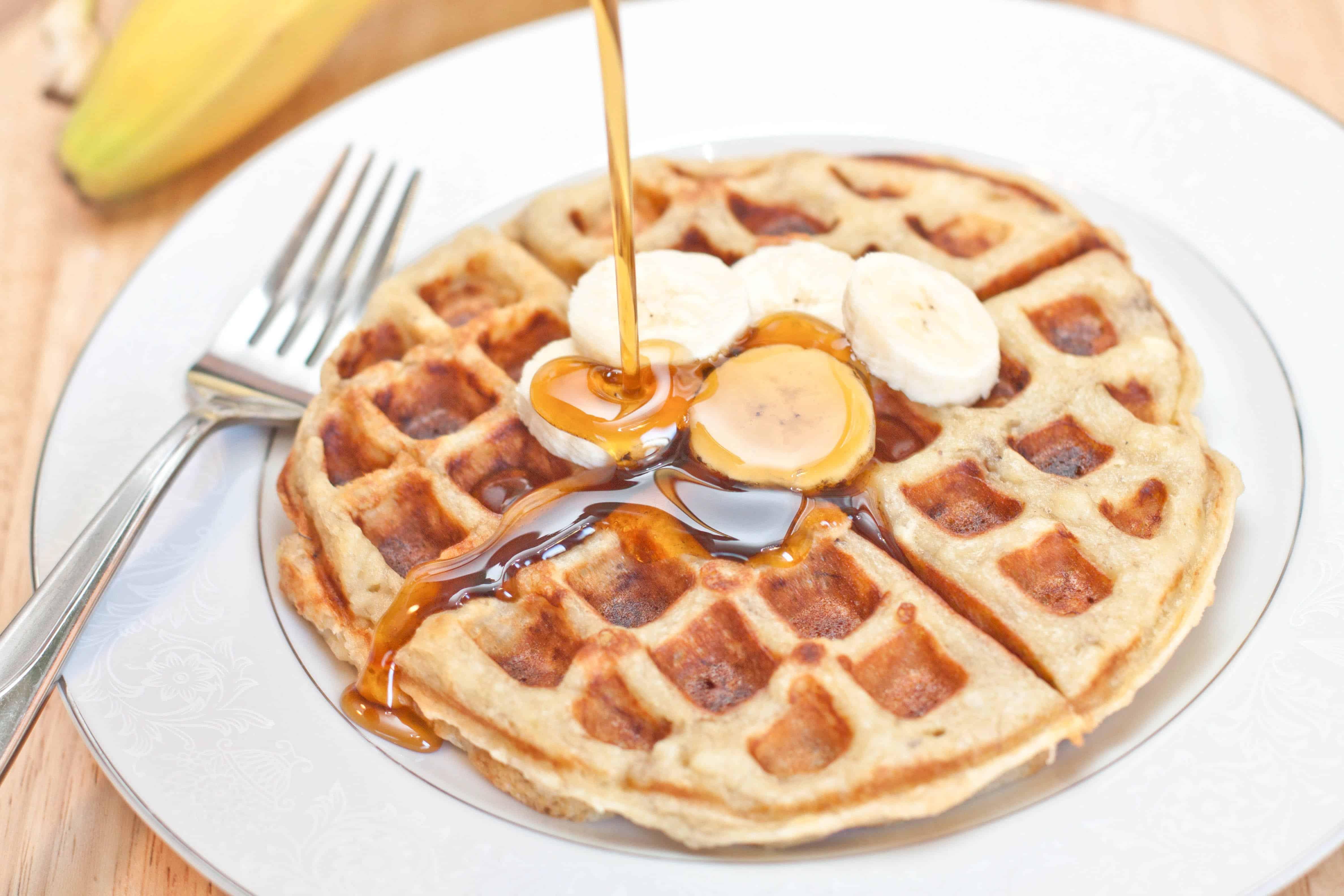 Banana Waffles from scratch