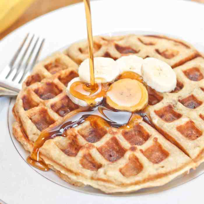Banana Waffles from scratch