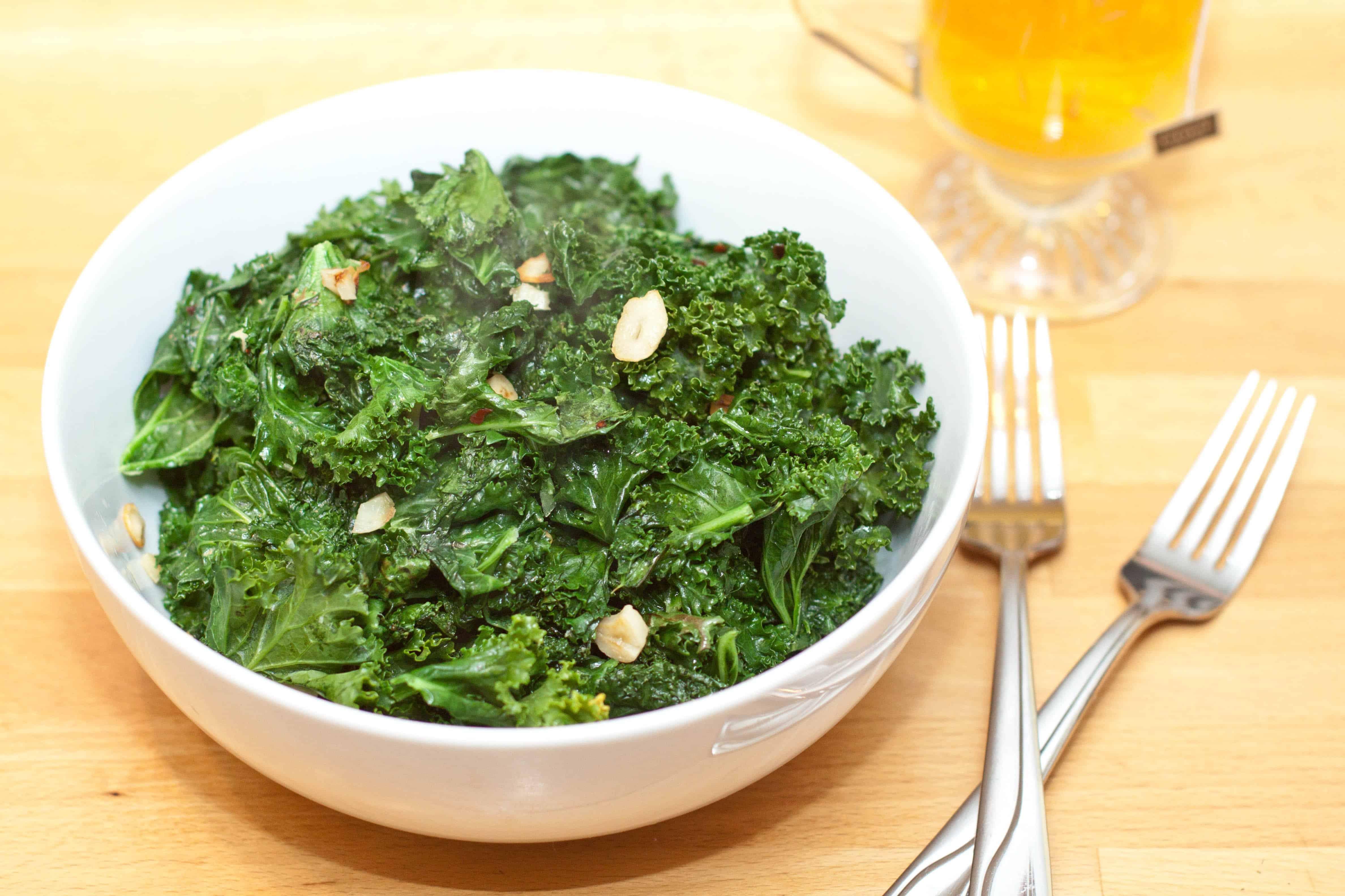 garlic kale