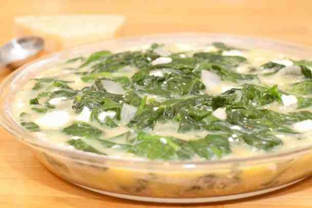 Crustless Spinach and Feta Quiche