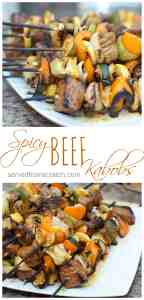 Any time's a good time to grill!  Kick up your beef kabobs with this spicy marinade!