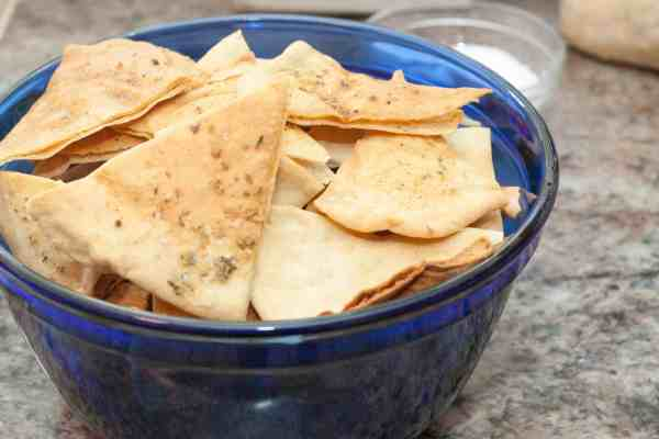 From Scratch Pita Chips!