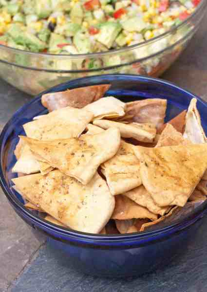 Pita Chips made from homemade pita bread. The ultimate from scratch chip!