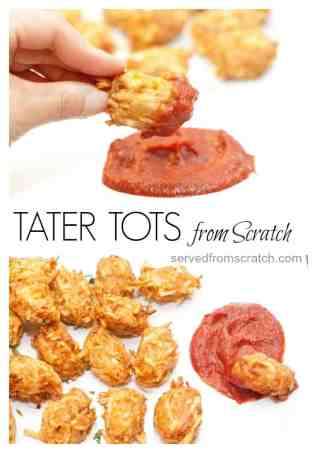 Skip the freezer aisle and make your own Tater Tots at home from Scratch!