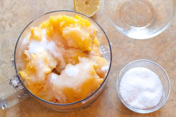 4 Ingredient Peach Sorbet from Scratch!