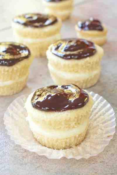 Boston Cream Pie- in a from scratch cupcake!