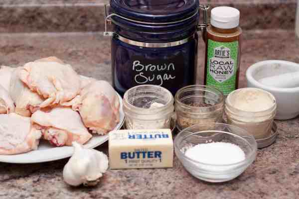 Tons of garlic and a touch of sweet make these chicken thighs the perfect dish!