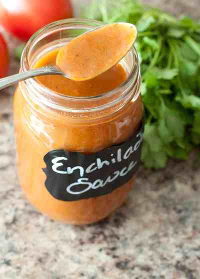 In just minutes you can make your own enchilada sauce from scratch!