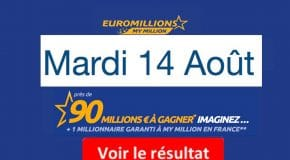 Résultats EuroMillions et My Million avec la grille des gains