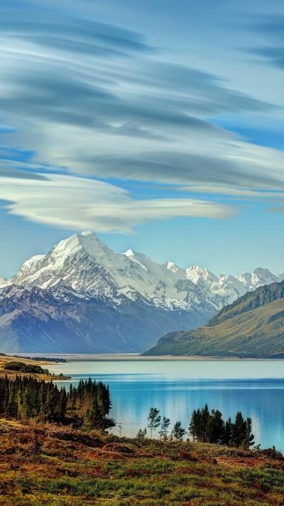 Beautiful Lake New Zealand Of Wallpaper - [1080x1920]