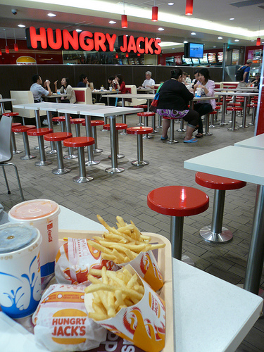 blog voyage australie sydney whv backpacker travel fast food hungry jacks hamburger