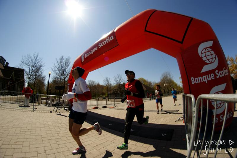 blog pvt canada montreal couple voyage semi marathon ile st helene coureurs