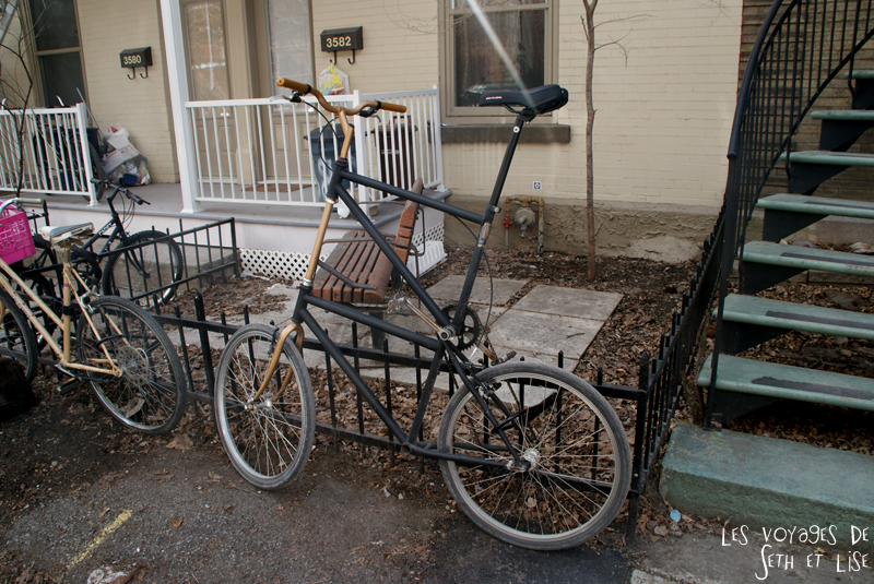 blog voyage canada montreal pvt backpacker hipster bike bicycle giant xxl