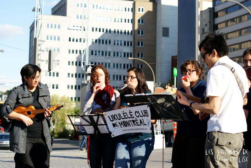 blog pvt canada voyage canada montreal voyage tour du monde fete artiste ukulele club groupe musique art