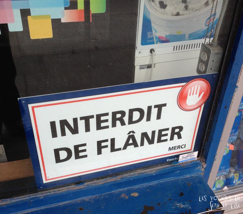 blog pvt voyage montreal canada whv flaner interdiction loitering depanneur shop magasin