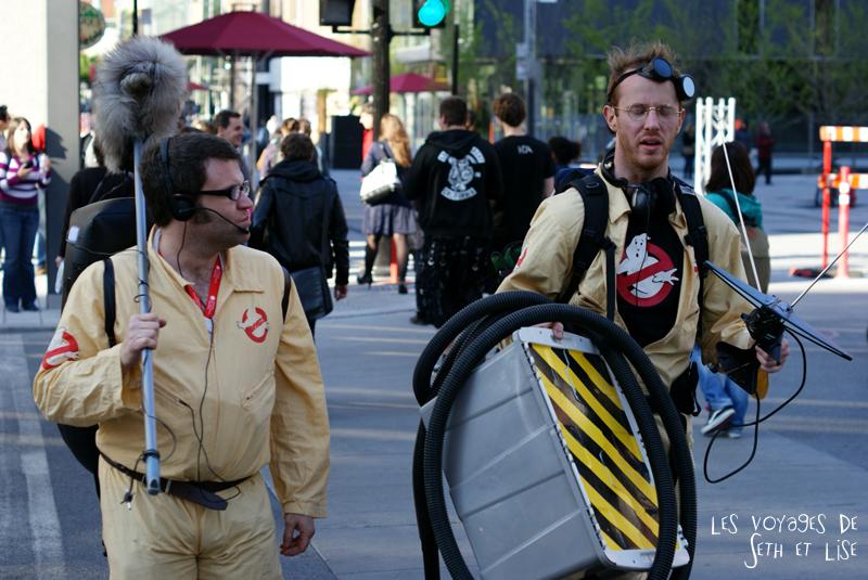 blog pvt canada voyage canada montreal voyage tour du monde fete artiste cosplay ghostbuster geek nerd