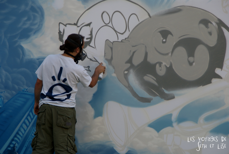 blog canada montreal pvt couple tour du monde voyage street art gaffeur