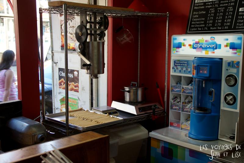 log pvt canada whv toronto ontartio couple voyage travel tour du monde churros shop food magasin