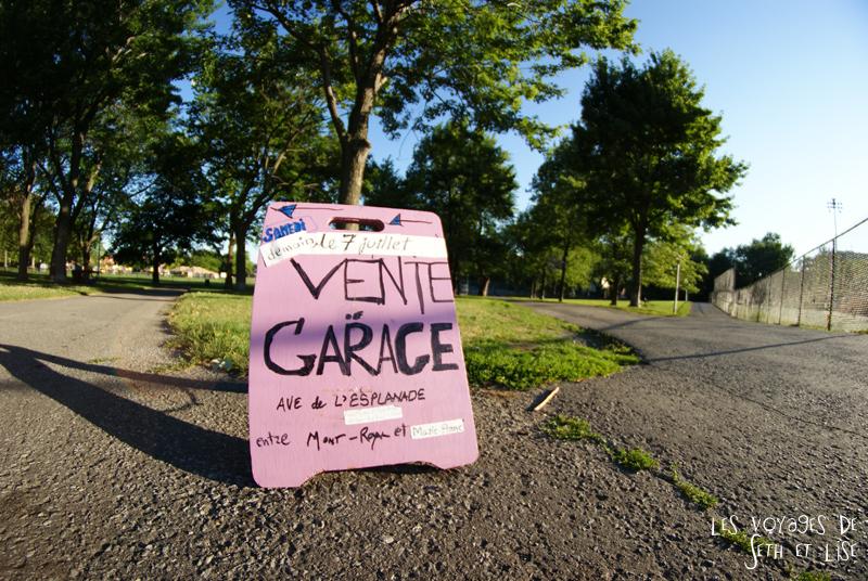 blog canada montreal pvt seth lise photo sunrise urbain soleil crépusucle sign garage sale vente