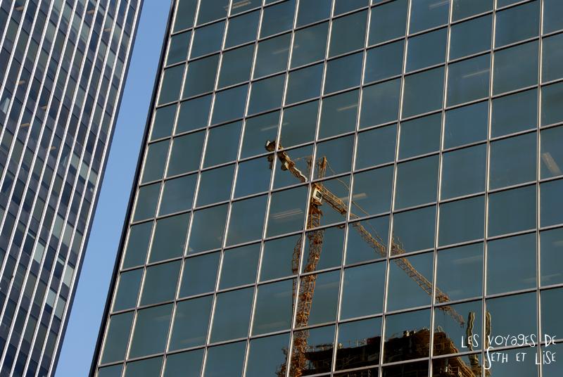 blog pvt canada montreal quebec couple voyage tour du monde grue immeuble reflet travaux