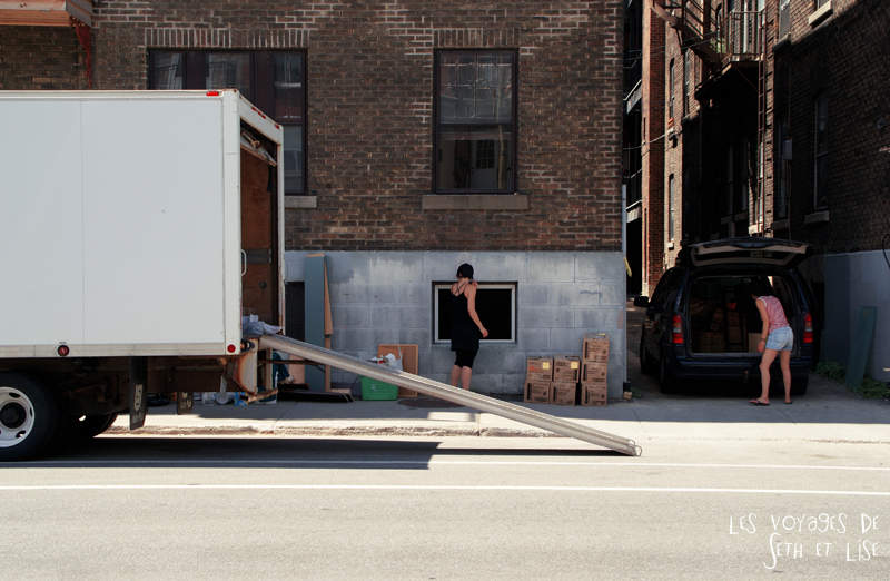 Moving day à Montreal