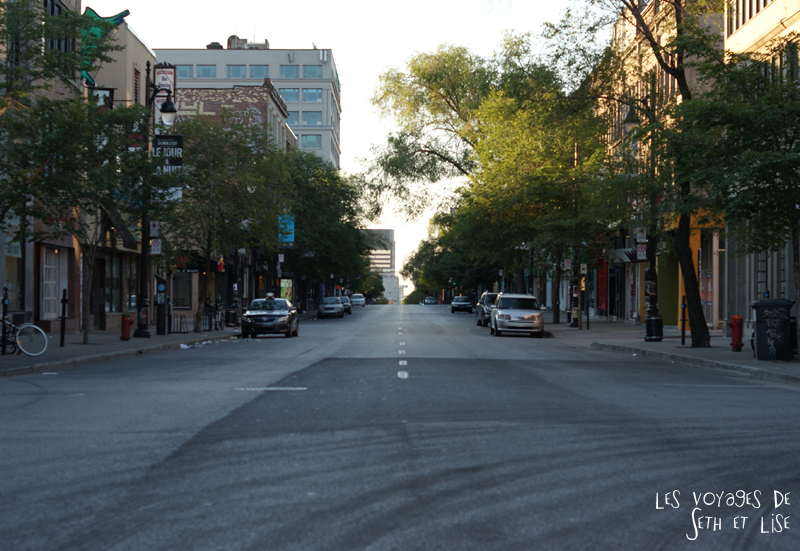 blog canada montreal pvt seth lise photo sunrise urbain soleil crépusucle rue perspective street empty vide desert apocalypse