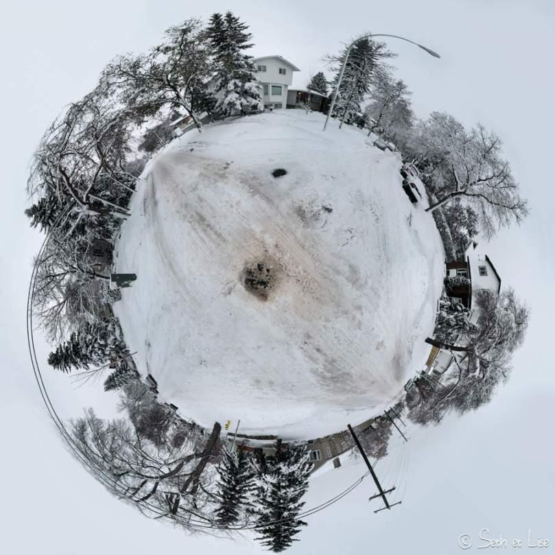 Notre première tempête de neige canadienne