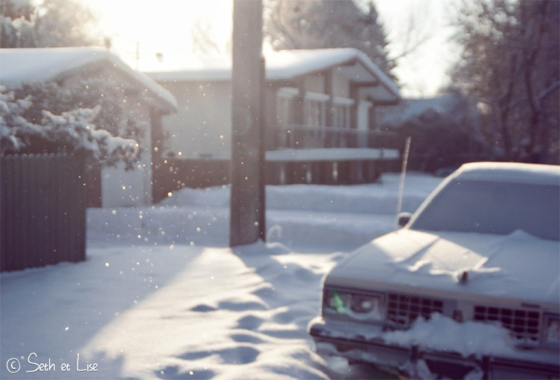 blog photo canada voyage pvt edmonton alberta ice snow neige glace vintage car winter cold froid hiver