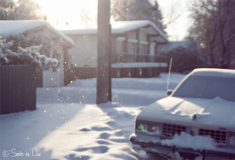 blog photo canada voyage pvt edmonton alberta ice snow neige glace vintage car winter cold froid hiver
