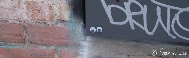 blog voyage canada photo bd humour street art edmonton googly eyes