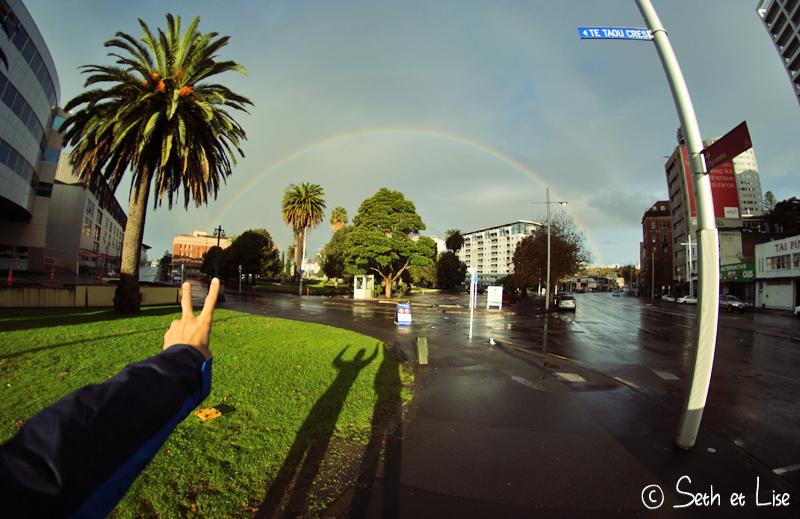 blog whv nouvelle zelande pvt voyage photographie seth lise auckland nord ile arc en ciel rainbow peace