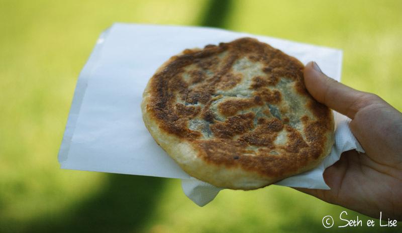 Pancake aux légumes épicés sans fromage, le préféré de Lise :)