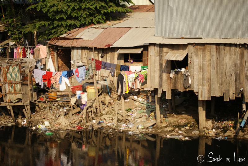 blog voyage cambodge phnom penh asie bidonville