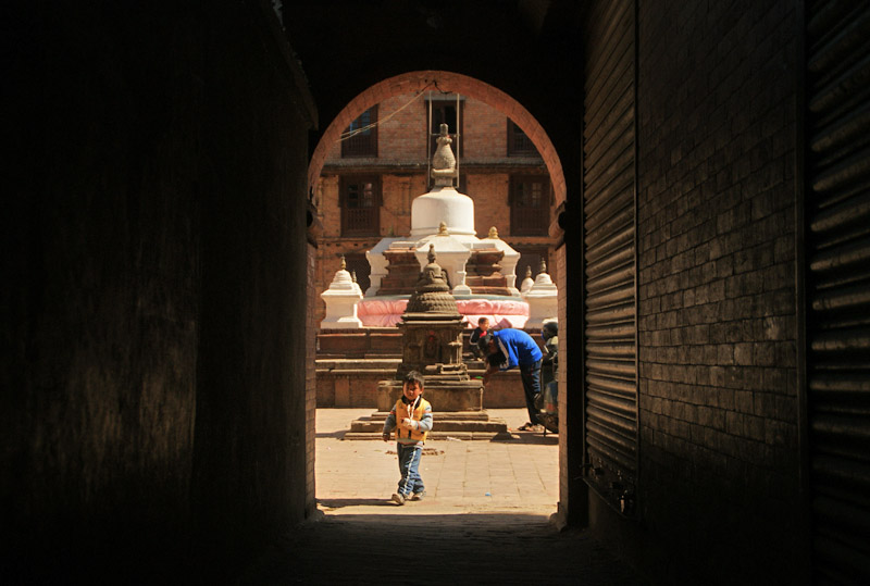 blog voyage nepal tour du monde durbar square katmandou cour street
