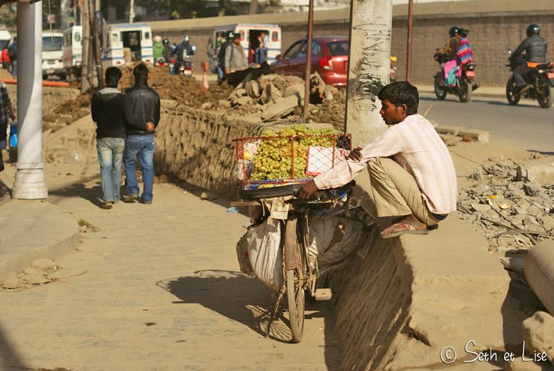 blog voyage tour du monde nepal katmandou vendeur raisin