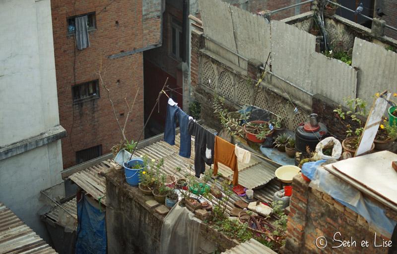 blog voyage tour du monde nepal katmandou toit jardin