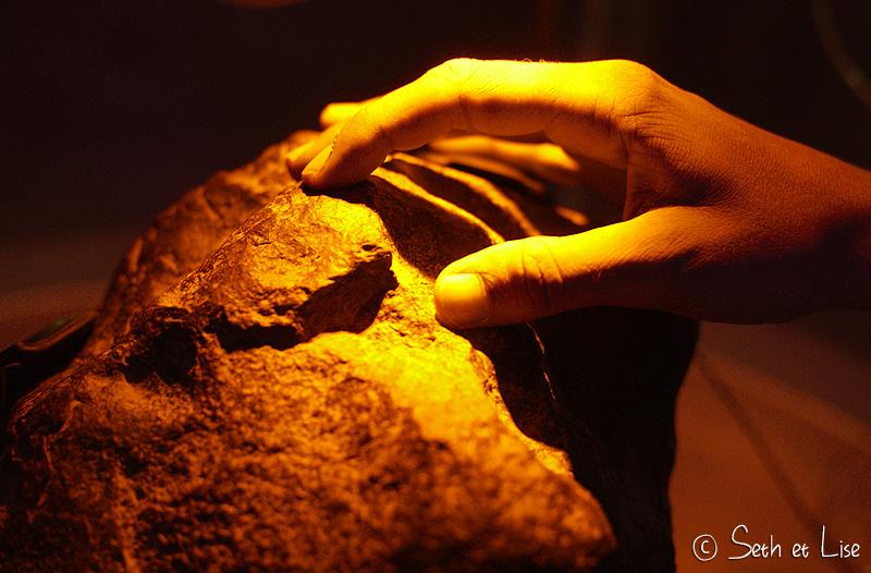 toucher une météorite