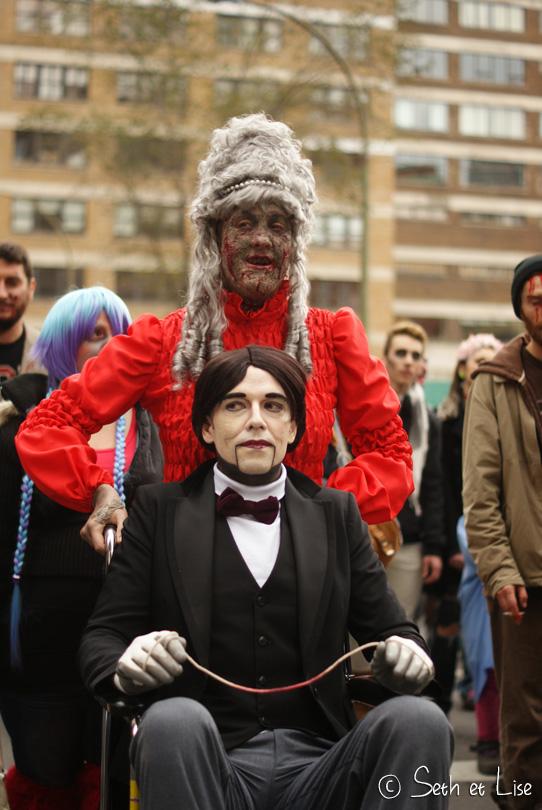 zombie fauteuil marche des zombies montreal