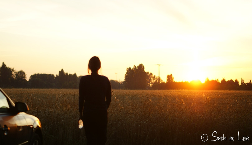 sunrise girl camping