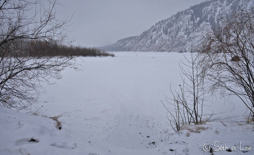 dawson city frozen klondike river