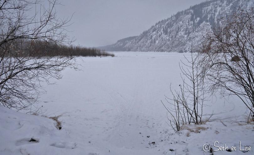 dawson city frozen klondike river