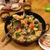 アウトドア料理の練習 パエリアに挑戦