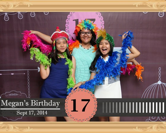 photobooth sweet 17th Megan's