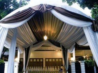 Tenda Lengkung Coklat-Gold-Putih