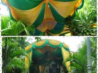 Tenda Lengkung Hijau-Gold