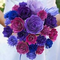 DIY Paper Wedding Bouquet and Matching Flower Girl Barrettes- Cricut Design Space Star Challenge