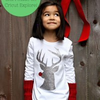 Cricut Explore Giveaway!!! DIY Hipster Rudolph Shirt Made on Cricut Explore