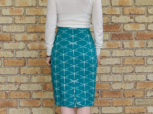 Pencil Skirt with U Insert Kick Pleat