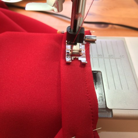 Red Bodycon Dress- Sewing Avenue Blog