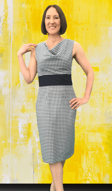 Black Gingham Dress Long front image